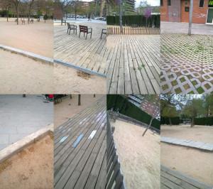 Judith León ens mostra el límit de les accions que els urbanistes proposen als parcs. Ens indica com s'organitza i delimita l'ús que els ciutadans en fem a través d'un munt de normes: fins on podem caminar, on podem jugar, on podem asseure'ns, com ens hi podem relacionar...