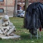 L'acció i l'estatua de la Maternitat