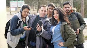 Fent fotos i Umair gravant